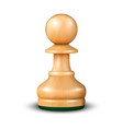 3d realistic wooden pawn icon closeup vector image vector image