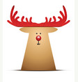 a reindeer christmas decoration element vector image
