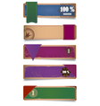 A set of promo cardboard paper banners with ribbon vector image vector image