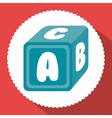 alphabet cube isolated icon vector image