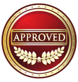 Approved Red Label vector image vector image