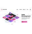 apps development landing page website ux vector image