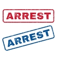 Arrest Rubber Stamps vector image vector image