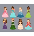 Beautiful princesses vector image vector image