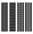 black tire track set 1 vector image vector image