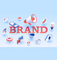 brand banner isometric style vector image
