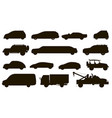 car types set different automobiles type vector image