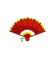 chinese hand fan beautiful asian accessory vector image