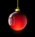 Christmas ball Stock vector image vector image
