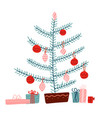 christmas concept tree decorated vector image vector image