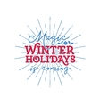 Christmas typography label Retro christmas vector image