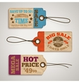 collection cardboard sale price tags vector image