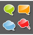 Colorful Paper Speech Bubbles Set vector image vector image