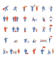 colorful people icons vector image vector image