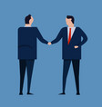 contract agreement business people standing vector image vector image