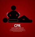 CPR Or Cardiopulmonary Resuscitation vector image