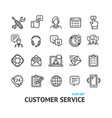 customer service signs black thin line icon set vector image
