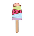 delicious popsicle comic character vector image vector image