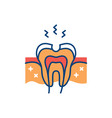 dental caries icon tooth hole damaged tooth vector image