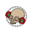 design t-shirt head skull vector image vector image