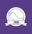 emblem of food design vector image