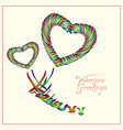 Enamel heart-and-birds card vector image vector image