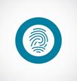 fingerprint icon bold blue circle border vector image vector image