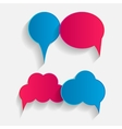 Flat Speech Bubbles with Long Shadows vector image vector image