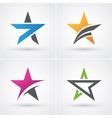Four star icons vector image vector image