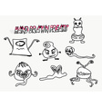 funny monsters characters set doodle vector image vector image