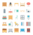 Furniture Colored Icons 6 vector image vector image