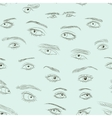 Hand drawn Eyes set pattern vector image vector image