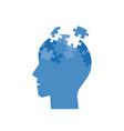 head jigsaw puzzle mind jigsaw puzzle flat design vector image