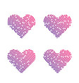 heart finger print vector image vector image