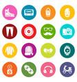 hipster symbols icons set colorful circles vector image vector image