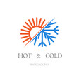 hot and cold background vector image vector image