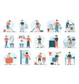 housework set isolated collection men vector image vector image