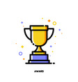 icon of golden trophy cup for business awards vector image