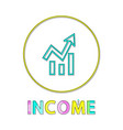 income bright round icon template for online app vector image vector image