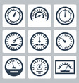 isolated meters icons set vector image