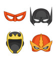 isolated object of hero and mask sign set of hero vector image
