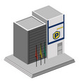 isolated police station vector image