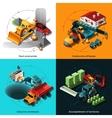 Isometric Construction Machines vector image