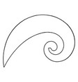logarithmic spiral curve french curve radius vector image vector image