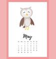may 2018 year calendar page vector image vector image