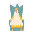Old King With Very Long Beard Sitting On The vector image vector image