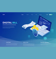 online bill payment online check payment vector image vector image