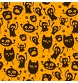 Pattern seamless texture with silhouette of a cat