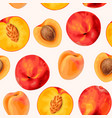 peach seamless pattern vector image vector image