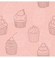 Pink cupckes pattern vector image vector image
